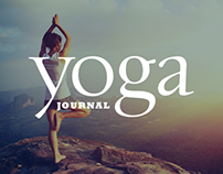 Yoga Journal - Online magazine website design