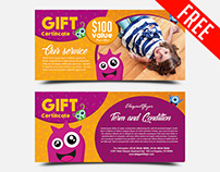 Kids – FREE Gift Certificate PSD Template