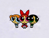 SWEET AND CHARMING POWERPUFF GIRLS EMBROIDERY DESIGN