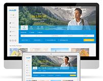Musafir.com | Website UI Design Concepts - Options