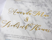 Wedding Invitation: Amanda and Fredireck