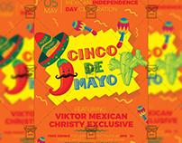 5 De Mayo Celebration - Seasonal A5 Flyer Template