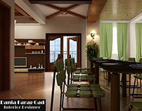 Green Kitchen & Dining Room Design
