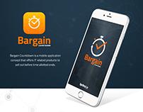 Bargain Countdown Mobile App Concept UI/UX