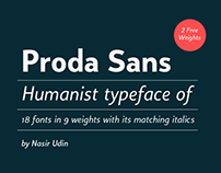 Proda Sans type family with 2 FREE FONTS