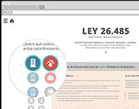Ley 26.485 - Micrositio
