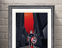 Movie Inspired Travel Poster Series (Captain America)