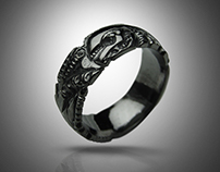 BLACK GIGER - biomechanical ring