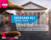 Transparent Travel Business Card