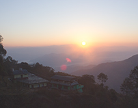 Sunrise from Nagarkot Tower