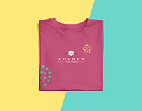 Free Folded T-Shirt Mockup PSD