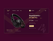 Product Page design concept