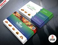 Best Restaurant Business Card PSD