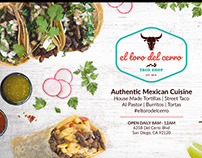 Client Work For El Toro Del Cerro Taco Shop