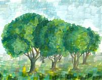 Gouashe landscapes