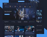 Website design for eSports Team. Penta Sports is just a