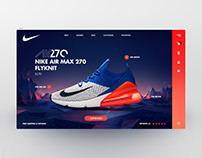 Nike Air Max Landing page