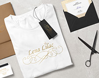 "Logo ""Lena Lilac"" for sewing"
