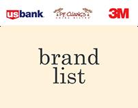 brands I've worked on