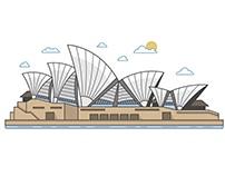 Australian major city illustrations
