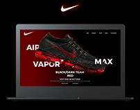 NIKE AIR VAPOR MAX : black dark team red : Web Design