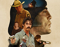 No Country for Old Men tribute key art.