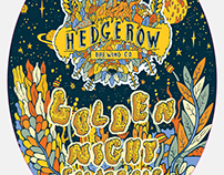 Pump Clip and Logo for Hedgerow Brewing Company