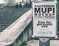 Mupi Photoshop Mockup—Escadas Monumentais, Coimbra