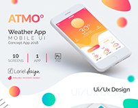 Atmo - Weather App Mobile Ui