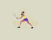 Female Athlete Illustration 01