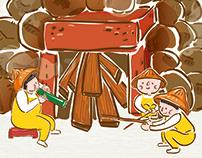 2016 香山走透透-焢窯親子樂 視覺插畫繪製與周邊設計