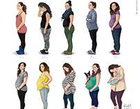 Monthly Baby Bump // Ilustración