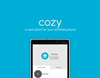 Cozy - A Nest Client for Windows Phone
