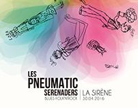 Affiche Les Pneumatic Serenaders, Avril 2016