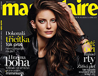 Marie Claire CZ COVER March 2015 Reka Ebergenyi