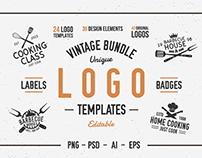 Vintage logo templates. 42 Hipster emblems.