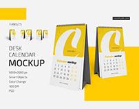 Desk Calendar v08 Mockup Set