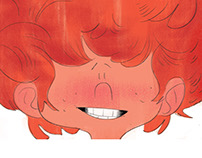 Illustrations from the children's book- Red curly hair