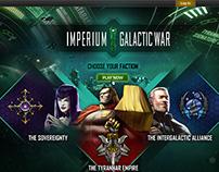 Imperium Galactic War - Landing Page
