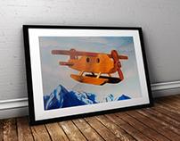 Ilustración Avioneta