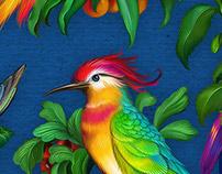 Birds Pattern Valentina Kostina