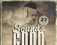SOUNDS GOOD - Grunge flyer design