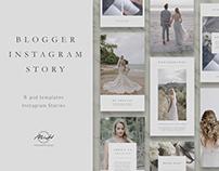 Vintage Instagram Story Bundle Template/ Blog/ Blogger