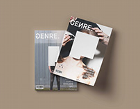 GENRE. Magazine Identité visuelle complète.