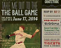 Ball game event invitation