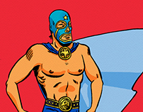 LUCHADORES!! Illustrations