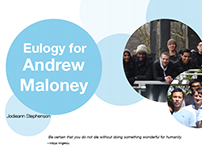 Eulogy for Andrew Maloney