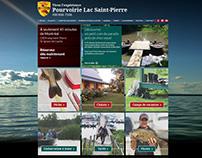 Site web / Pourvoirie du lac Saint-Pierre