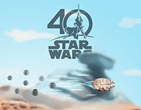 '40 Years of Star Wars' in Oilpaint + Animation