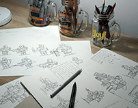 Sketches of the characters for Game Design